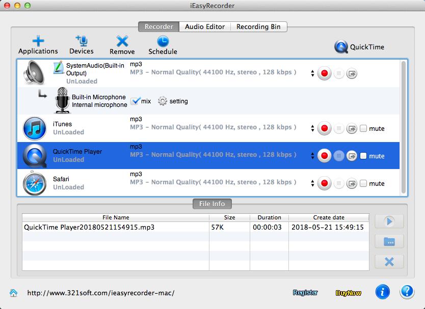 audio recording mac: